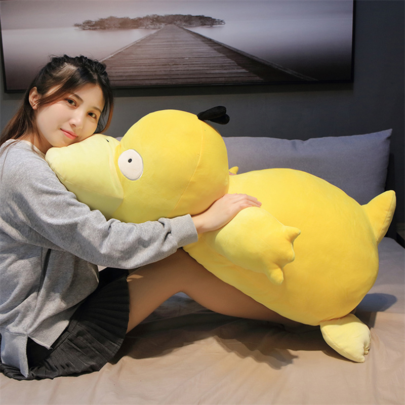 Kawaii Psyduck Daze Yellow Duck Plush Big Size Soft Pillow Home Decoration Sofa Doll Toys For Children Girlfriend Gift
