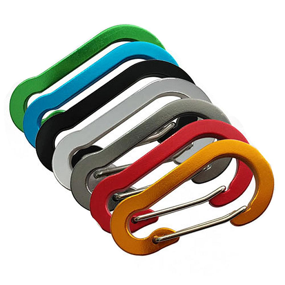 No.5 Hoist-Shaped Aluminum Carabiner Key Chain Clip Outdoor Camping Keyring Snap Hook Water Bottle Buckle Travel Climbing Kit