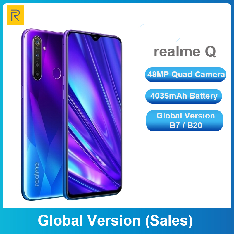Realme Q 64GB 6.3'' Moblie Phone Realme 5 Pro 128GB Snapdragon 712 AIE Octa Core 48MP Quad Camera Cellphone 20W Fast Charger