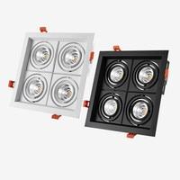 1Pcs square LED dimmable Ceiling Downlight Recessed40W LED lamp Spot light LED For Home Lighting 110V 220V