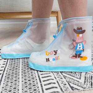 Protector Shoes Boot Cover For Children Non-disposable Protective Thicken Waterproof Anti-Slip Rain Shoes Cases Covers CD