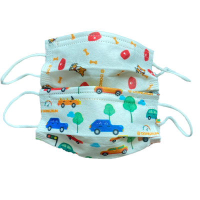 100 Pcs Disposable Three-layer Protective Child Mask With Melt-blown Cloth Dustproof And Breathable Child Mask