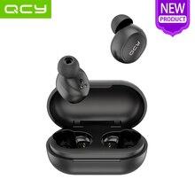 QCY T4 TWS Bluetooth V5.0 deportes auriculares inalámbricos APP personalización 3D auriculares estéreo de auriculares Mini en la oreja de Micrófono Dual