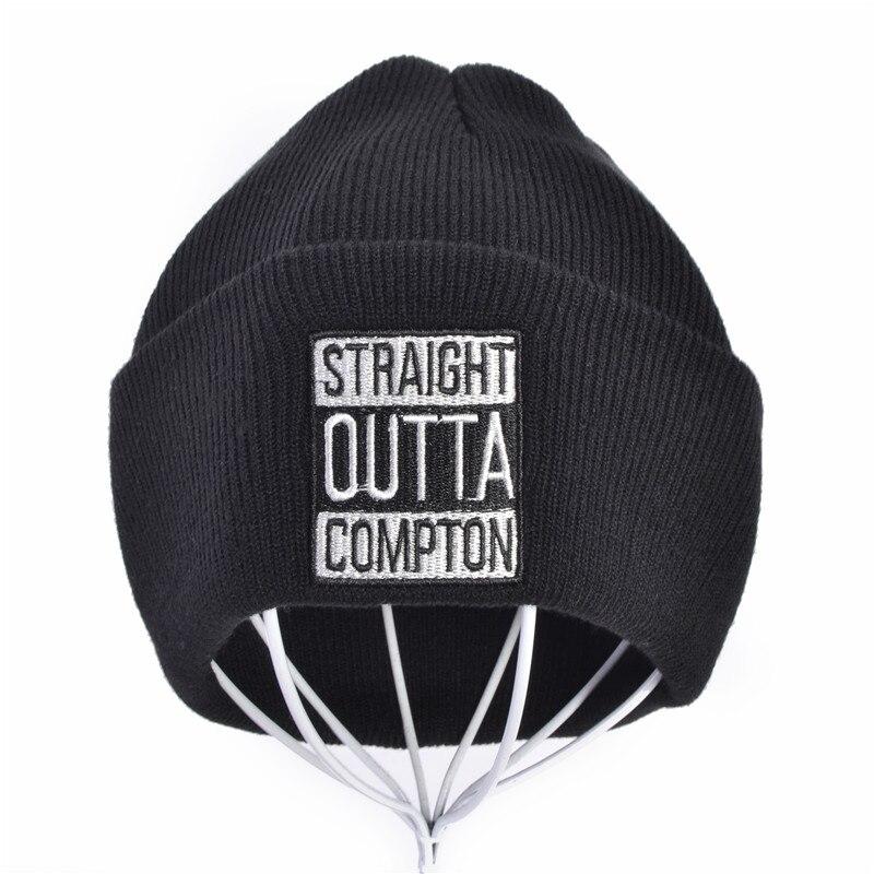 New West Beach Gangsta Nwa Compton Winter Warm Fashion Beanies Knitted Bonnet Skullies Caps Straight Outta Compton Knit Hat