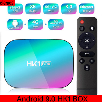 HK1 BOX Android 9.0 TV BOX Set To Box S905X3  G31 MP2 GPU Processor 8K 5G 1000M Dual Wifi BT Netflix Fast Set Top BOX hk1 max smart set top box rk3328 android player tv box 4g 64g wifi bt