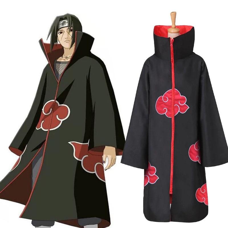 Hot Sale Anime Naruto Akatsuki /Uchiha Itachi Cosplay Halloween Christmas Party Costume Cloak Cape 1