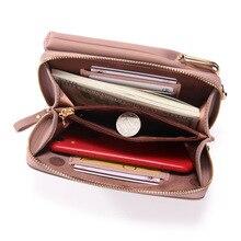 Big bag Clutch Long coin purse Zipper pu leather Wallet SF