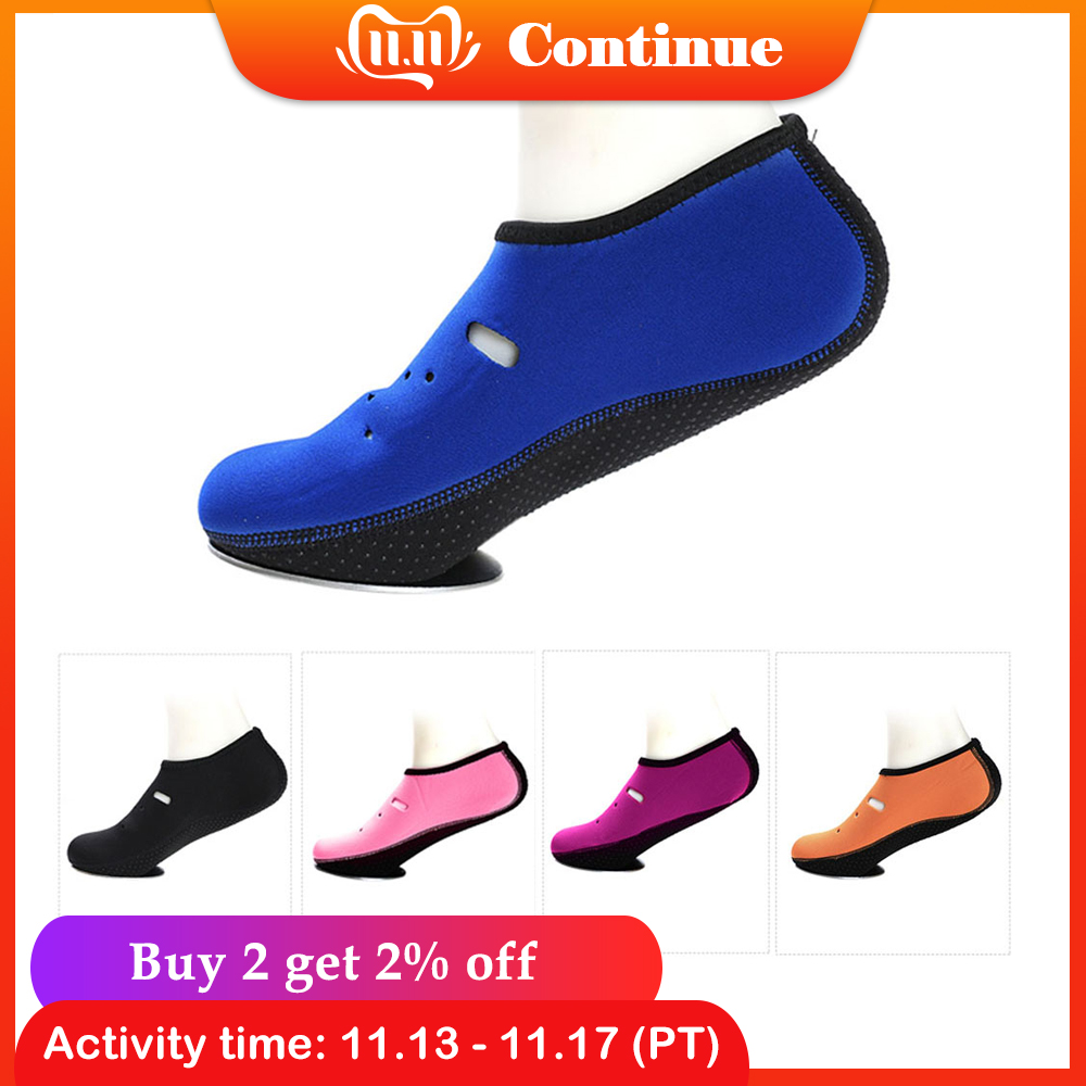 1 Pair Anti-skid Water Shoes Slipper Quick-dry Barefoot Diving Socks Beach Snorkeling Swimming Surfing Socks For Men Women