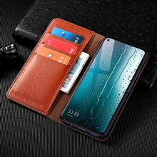 Litchi Patter Genuine Leather Magnetic Flip Cover For Samsung Galaxy S6 S7 edge S8 S9 S10 S20 S21 Plus Ultra Case Luxury Wallet