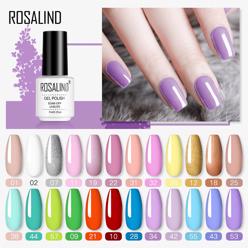 ROSALIND Nail Polish Hybrid Varnishes Semi Permanent UV Gel Polish All For Manicure Soak Off  Pure Gel Nail Polish Lacquer Art