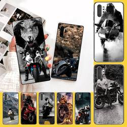 Красивый мотоциклетный мягкий черный Чехол PENGHUWAN для телефона Samsung Note 3 4 5 7 8 9 10 pro M10 20 30