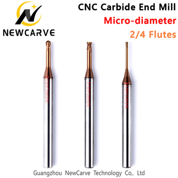 Long Neck End Mill Tolerance -0.01mm 2 4 Flutes Micro-dia Avoid Collisions For Cosmetic Silicone Car Mold NEWCARVE image