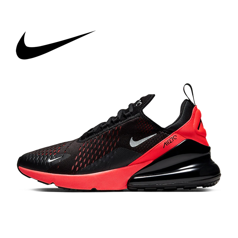 Original Nike Air Max 270 Men's Running Shoes Comfortable Jogging Wear Resistant Breathable New Color Athletic Designer AH8050