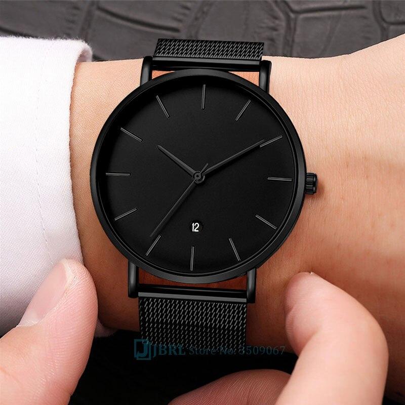 Big Black Watch Women Watches Ladies Luxury Stainless Steel Quartz Wrist Watches For Women Clock Female Wristwatches With Date