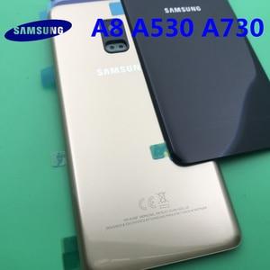 Image 2 - Ersatz Original Hinten Panel Batterie Glas Zurück Tür Abdeckung Für Samsung Galaxy A8 A8plus 2018 A530 A530F A730 A730F + werkzeug
