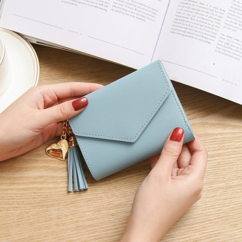 Women's Fashion Wallet Cute Student Tassel Pendant Trend Small PU Wallet 2020 Coin Purse Women Ladies Card Bag For Women