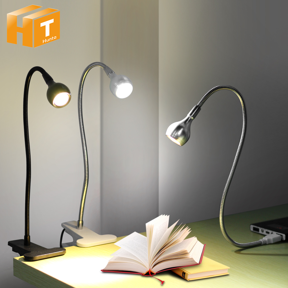 LED Desk Lamp With Clip 1W Flexible LED Reading Book Lamp USB Power Supply LED Night Lights