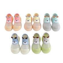Bebê da criança da criança de fundo macio antiderrapante sapatos de bebê recém-nascidos meninos e meninas iniciante sapatos da criança ao ar livre meias sapatos