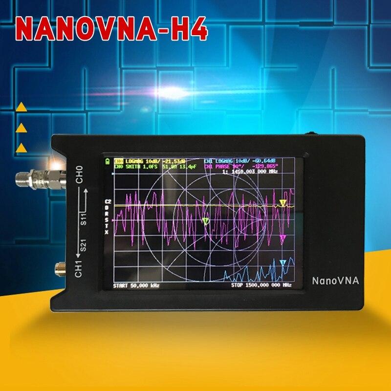 PINTUDY nanovna-h 50KHz-1.5GHz analyseur de réseau vectoriel NanoVNA 4 pouces LCD pour antenne UHF USB 5V 200mA 2020 nouveau