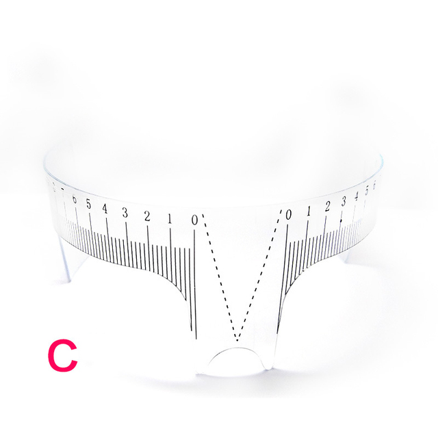 Plastic Eyebrow Tattoo Stencils Microblading Reusable Makeup Brow Measure Eyebrow Guide Ruler Permanent Tools 3
