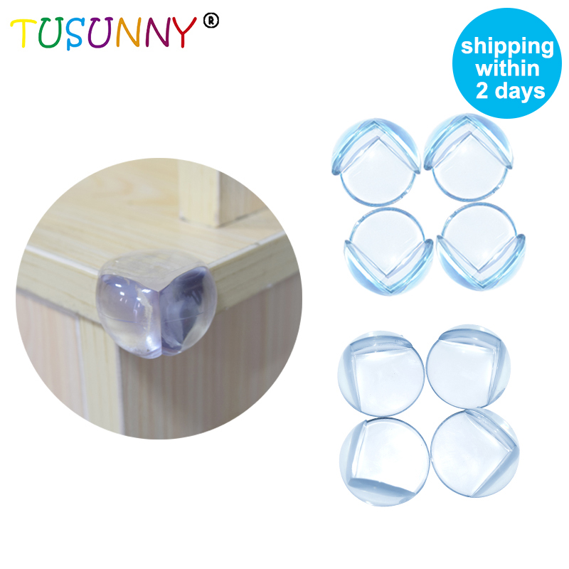 TUSUNNY 10Pcs /Lot PVC Clear Edge Baby Safety Corner Protector,In Corners Of Table Cabinet Desk Sharp Corner Rubber Angle