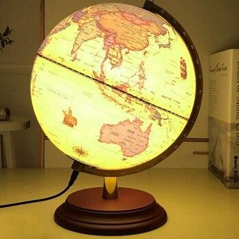 25CM globe middle school students retro LED lamp decoration globe world map levitating globe educational office decor фото