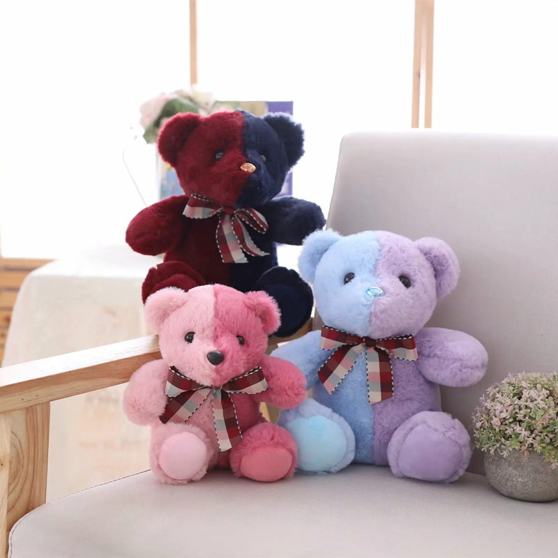 Creative Two Tone Teddy Bear Plush Toys Stuffed Animal Cute Bear Toy Plush Doll Children Toy Girls Birthday Gift in Stuffed Plush Animals from Toys Hobbies
