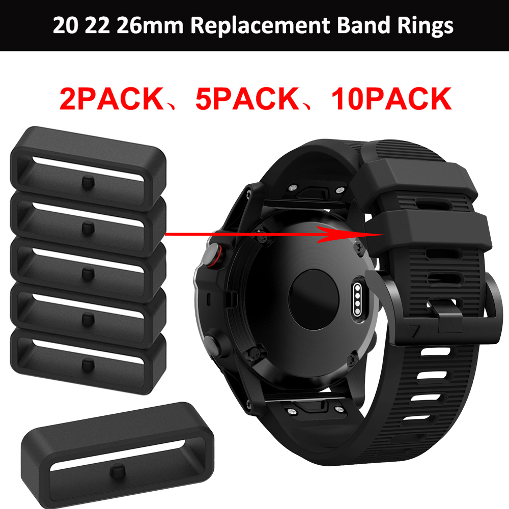 20mm 22mm 26mm replacement silicone ring For Garmin Fenix 6X 6X 6 Pro 5X 5S 5 Plus watch band keeper watch accessories loop hoop