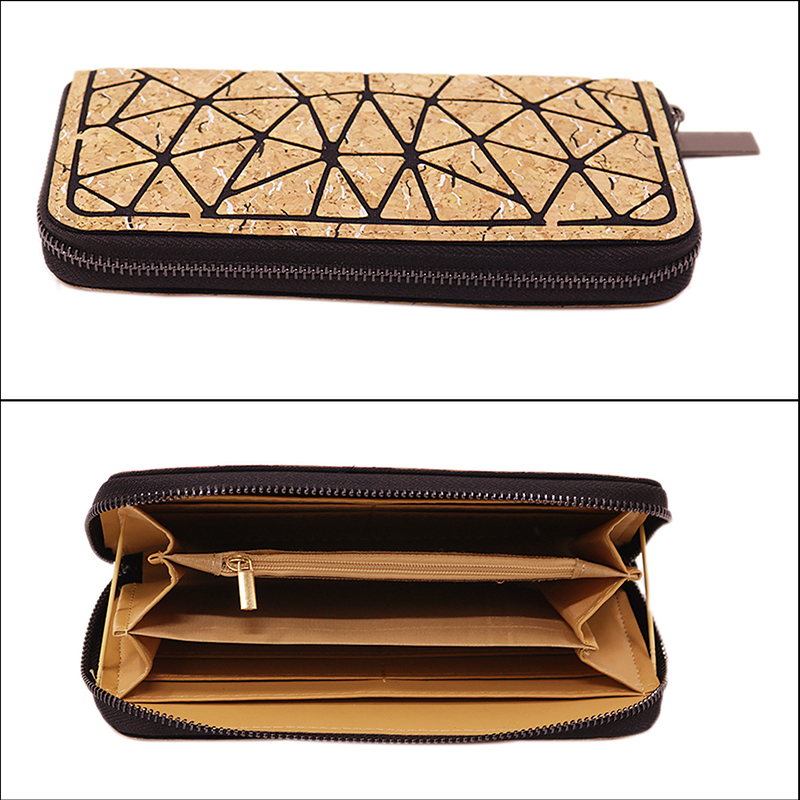 Long Women's Wallet Female Purses Coin Purse Card Holder Wallets Female vintage Money Bag Natural Cork Wallet From Portugal