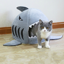 Shark Pet Bed Warm Products Soft Cartoon House For Cat Washable Puppy Winter Dog Cushion