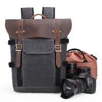 Waterproof Camera Bag SLR Camera Backpack Case Laptop Compartment, Padded Custom Dividers, DSLR Rucksack Video Camcorder Bags