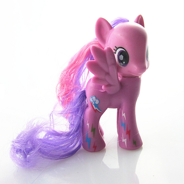 8cm My little pony PVC Rainbow <font><b>horse</b></font> cute little <font><b>horse</b></font> action <font><b>toy</b></font> <font><b>figures</b></font> dolls for girl birthday christmas gift image