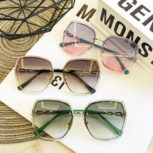 QPeClou 2020 New Luxury Oversized Rimless Sunglasses Women F