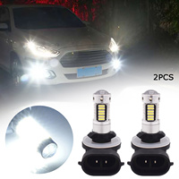 2 Pcs 881 Led-lampe DC12V H27W 1200LM 6000K Weiß Auto Nebel Licht Leuchtmittel Driving Tagfahrlicht Lampe Lampen auto Licht Zubehör
