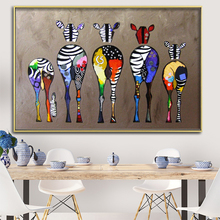 Abstract Zebra On The Wall Oil Painting on Canvas Posters And Prints Cuadros Wall Art Pictures For Living Room Home Decoration claude monet anemone oil painting on canvas posters and prints wall picture for living room home decoration