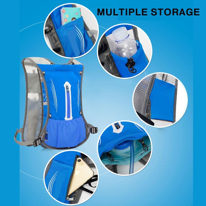 Adjustable Travel Outdoor Water Bladder Bag Water Bag Backpack Cooling Storage Furl 5 Color 2L Water Pack Camping Convenient