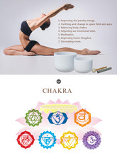 Chakra Frosted Quartz Crystal Singing Bowl 10inch bowl with free mallet and O-rings for spiritual meditation