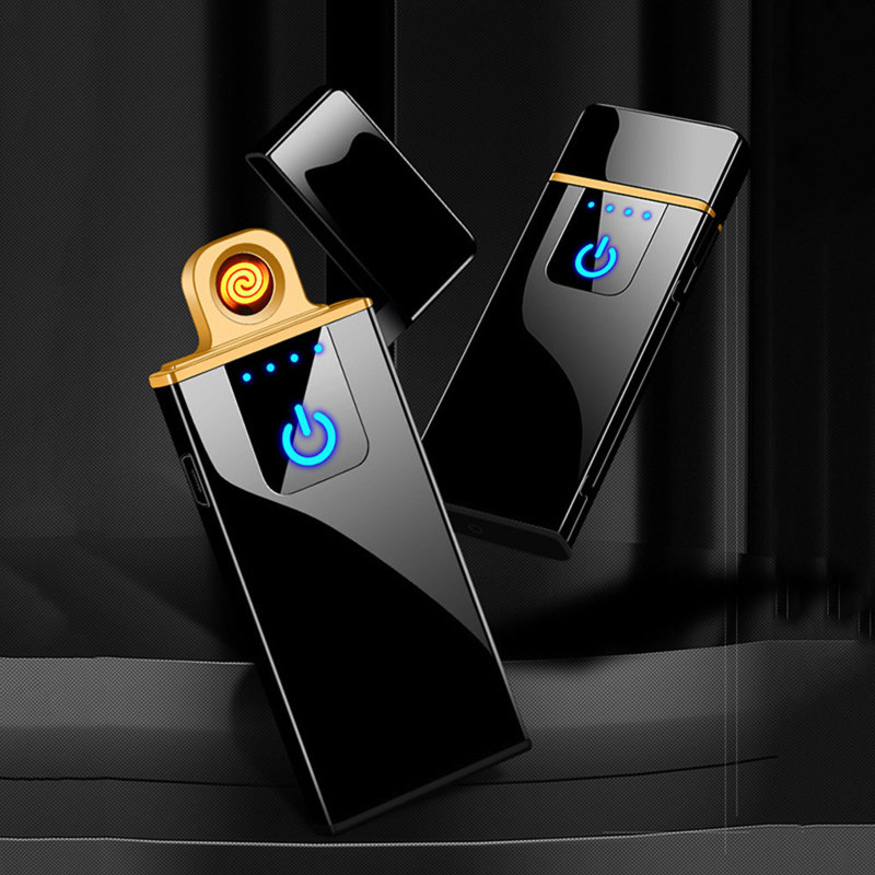 Зажигалка плазменная мужская с зарядкой от USB, Индукционная ультратонкая плазменная Зажигалка без огня, гаджеты для мужчин