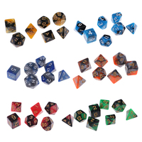 42 Polyhedral Digital Dice Set D4 D20 Die Board Game for Party D&D Role Play