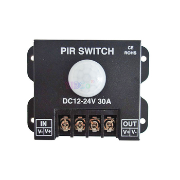 цена на DC 12V 24V 30A PIR Sensor Switch Human body Infrared Motion Sensor LED Strip Dimmer Switch panel light Controller Switch