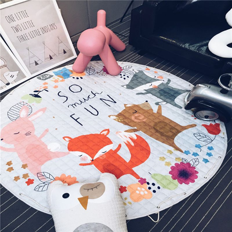Living Room Decoration Cute Cartoon Storage Mat Children Baby Game Crawling Pad X5XE