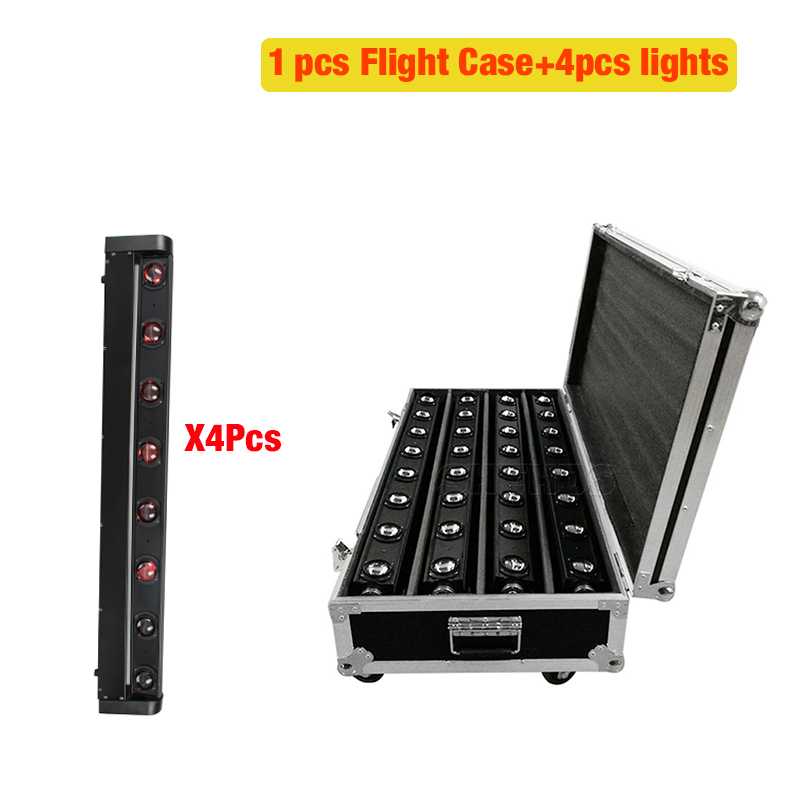2/4pcs New Arrival A Flight Case For LED Bar Beam Moving Head With 8x12W RGBW LED Stage Lighting Party Business Lamp
