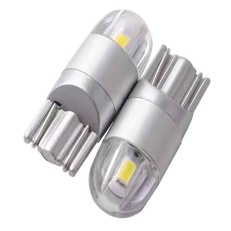 1pc T10 ampoule LED Blanc 168 501 W5W lampe à LED T10 Cale 3030 2SMD Intérieur Lumières 12V 6000K Lampe de Stationnement Ampoules