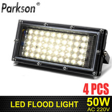 4pcs 50W Led Flood light AC 220V-240V Outdoor Lighting waterproof IP65 Reflector Led Spotlight Projector Led FloodLights(China)