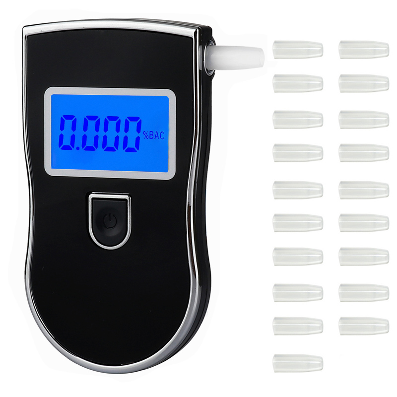 2019 NEW Hot selling AT-818 Professional Police Digital Breath Alcohol Tester Breathalyzer Analyzer Detector Practical DFDF