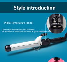 New Electric Professional Ceramic Curling Iron LCD Temperature Display Female Fashion Modeling Tool