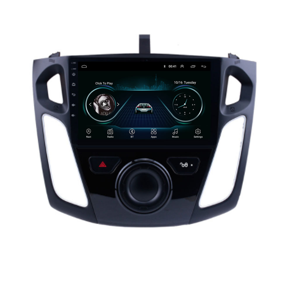 4G LTE Android 8.1 Für Ford Focus 2011 2012 <font><b>2013</b></font> 2014 2015 Multimedia Stereo Auto DVD Player Navigation GPS Radio image