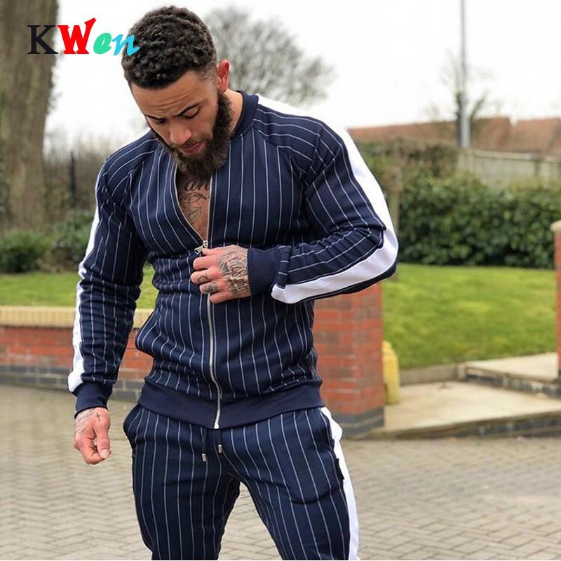 New Men's Autumn Hoodies Tracksuit Set 2019 Male Sweatshirt Sweatpants Multi-pocket Fashion Trousers High Street Jackets Sets