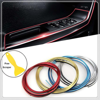 Car Decorative Strip Door Edge Trim Interior Gap line for BMW E34 F10 F20 E92 E38 E91 E53 E70 X5 M M3 E46 E39 E38 E90 image