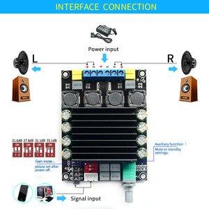 Image 4 - UNISIAN TDA7498 ses amplifikatörü kurulu HIFI dijital 2.0 kanallar D sınıfı amplifikatörler çıkış 2X100W Stereo güç AMP PC MP3
